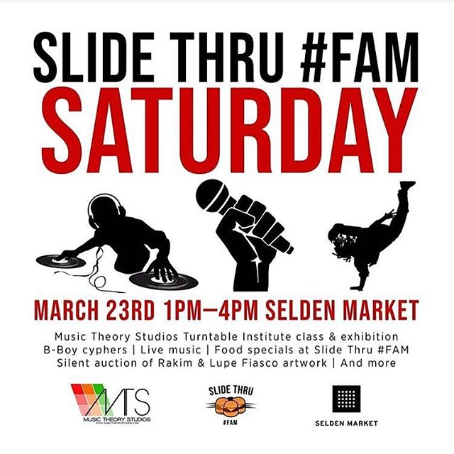 Catch Us this Saturday 3.23 at #SeldonMarket @djkaree & @djrickgeez will be teaching our normally regular scheduled #Saturday #DJClassesGet More Familiar with how we Teach & Meet Our Instructors & MTS Team to learn more about signing up for DJ Classes. #SlideThruFamSaturdays Repost @slidethrufam・・・ SLIDE THRU #FAM SATURDAY We're teaming up with @musictheorystudios to show love to the many aspects of hip hop. This is a family friendly event so bring your whole crew and experience a small sample of the creativity and expression that hip hop allows.Saturday March 23rd1pm - 4pm ︎ Free ︎ All ages 🎛 Music Theory Studios Turntable Institute classes & exhibition🥁 Local bboy cyphers Live music🖼 Silent auction of Rakim & Lupe Fiasco artwork by local artists @sarah.hokulele and @cg_paints 🍽 Food specials at Slide Thru #FAMIf you're interested in performing at this event, send us a DM with a link to your work!...#slidethrufamsaturday #slidethrufam #fortheculture #parasakultura #filipinofusion #filipinofoodmovement #filam #pinoyeats #filamjams #coolhandchef #chefcope #rpgeats #whatyouwannaeatboo #letmefeedyou #seldenmarket #downtownnorfolk #visitnorfolk #visitvirginia