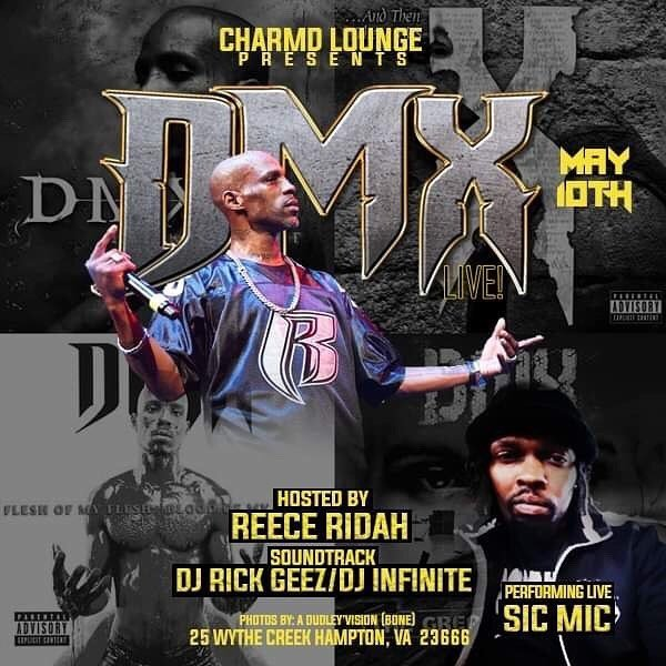 @charmdlounge With @dmx This Friday Night.